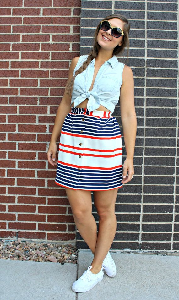 Vintage 1960s Americana Red White and Blue by ChanceAndCoincidence
