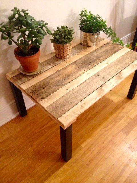Jolie palette trouvée avec 2 sortes de teintes naturelles de bois ...