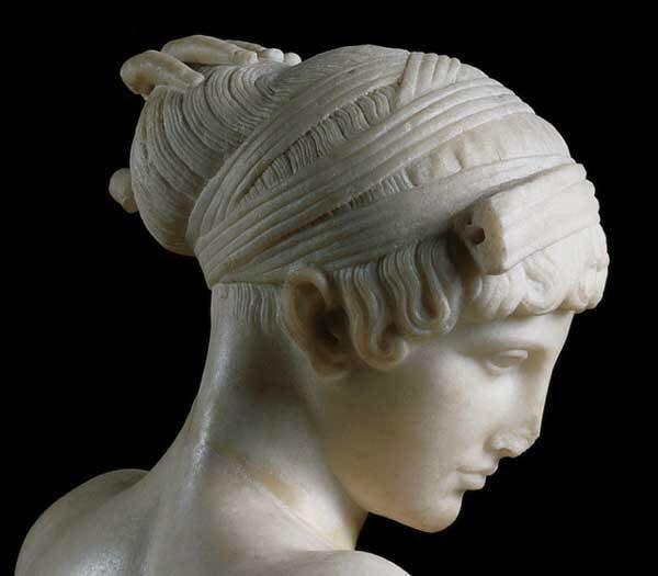 Sala Fine 800.Splendida Statua Ellenistica In Marmo Pario Ritrovata A Fine