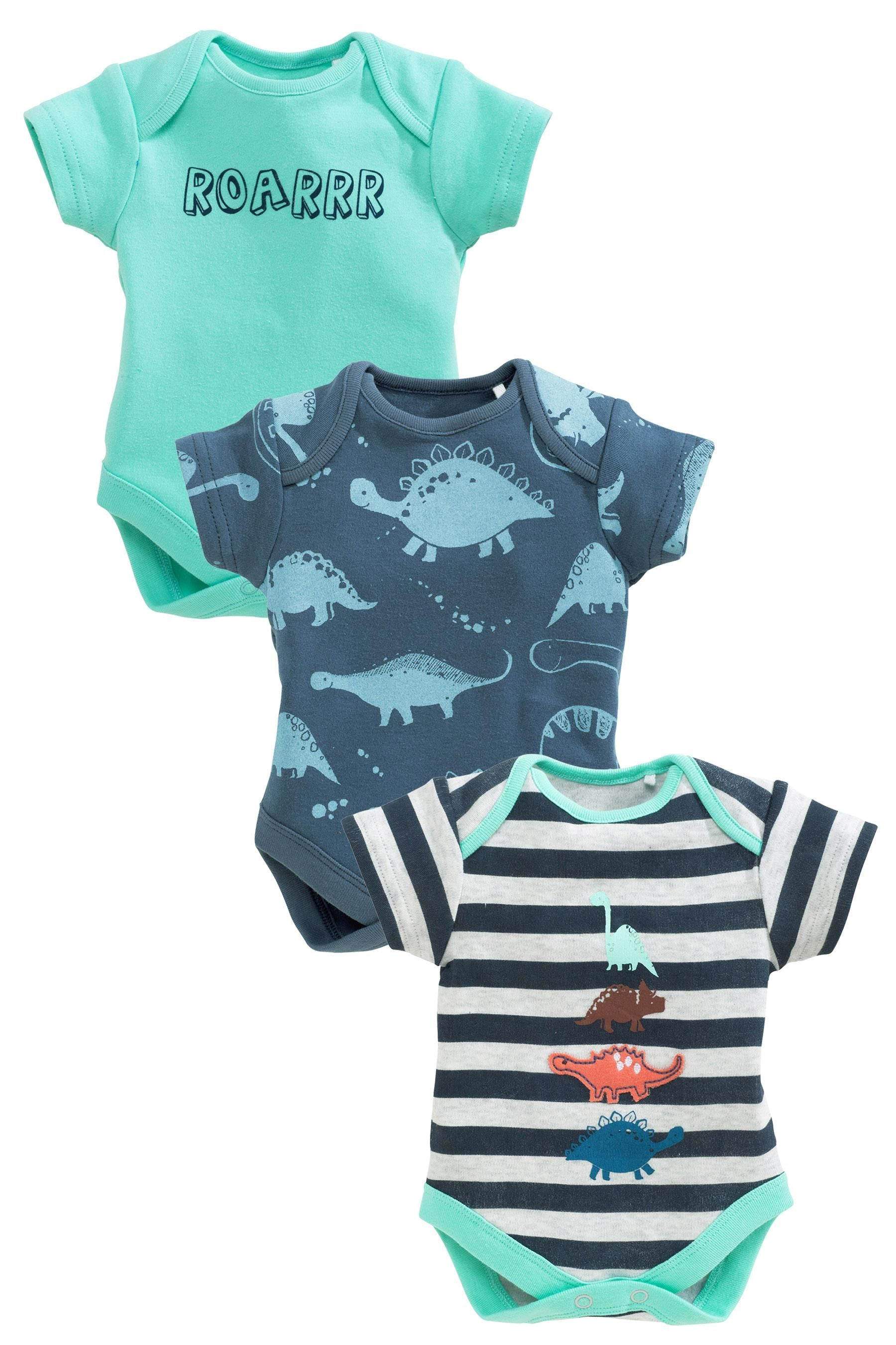 Buy Three Pack Dino Short Sleeve Bodysuits 0 2yrs from the Next UK