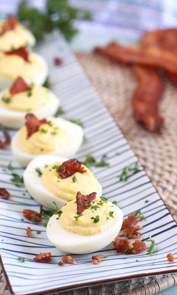 Easy to make Horseradish Deviled Eggs with BACON! The BEST DEviled Egg recipe in all the land. | @s