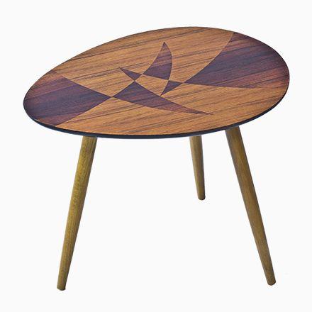 Schwedischer Tisch mit Geometrische Marketerie, 1950er Jetzt
