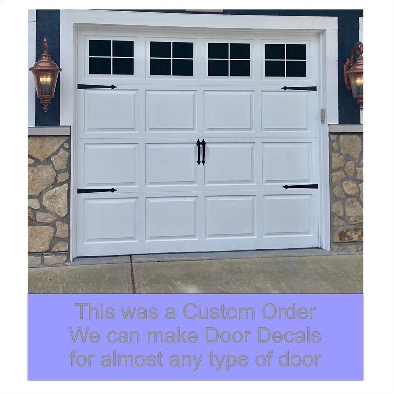 Craftsman Style Faux Garage Door Windows Vinyl Decals No Faux Hardware Included Garage Door Windows Faux Garage Door Windows Garage Door Styles