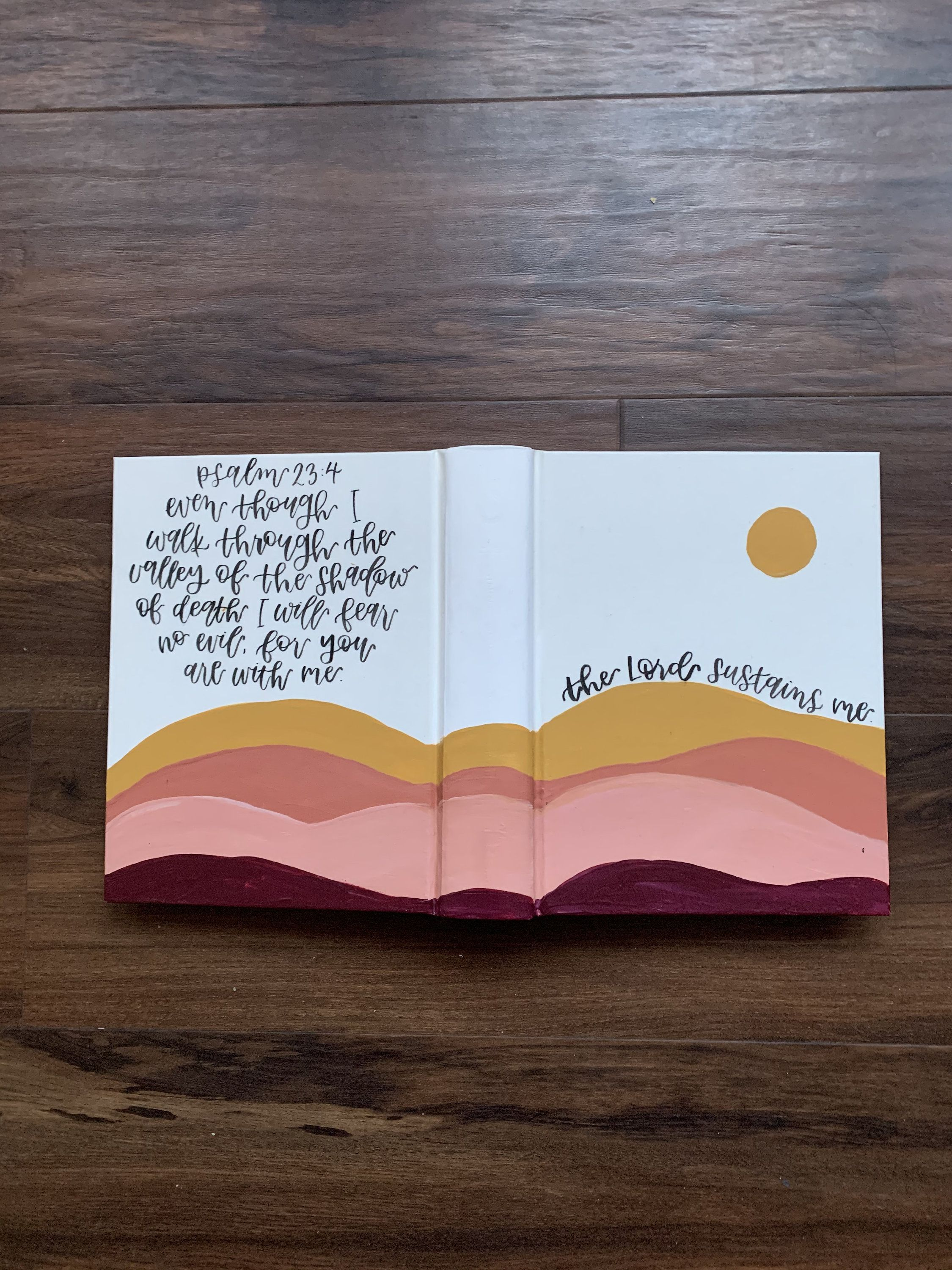 The Lord Sustains Me ESV Painted Journaling Bible