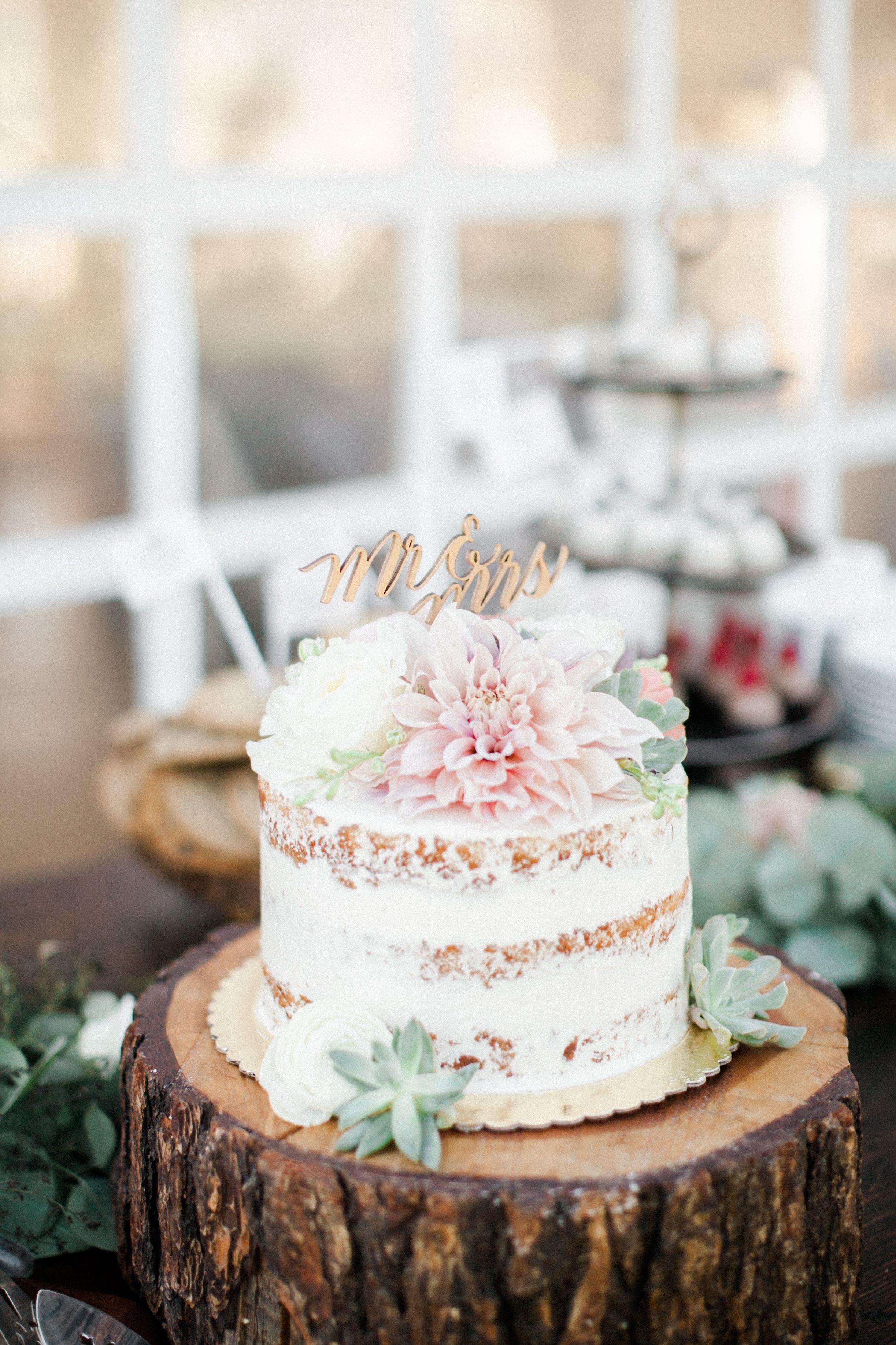 Simple Small Wedding Cake
