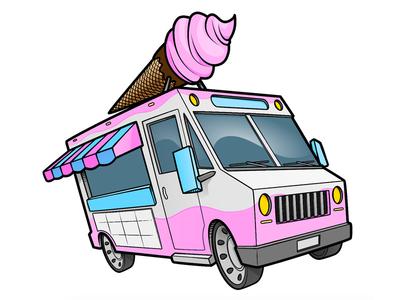 Ice Cream Truck Color Ice Cream Truck Ice Cream Color