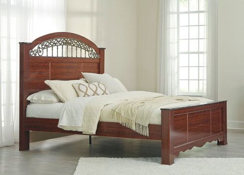 Ashley Fairbrooks Estate Reddish Brown Queen Poster Bed in 2018 - Poster Bedroom Sets