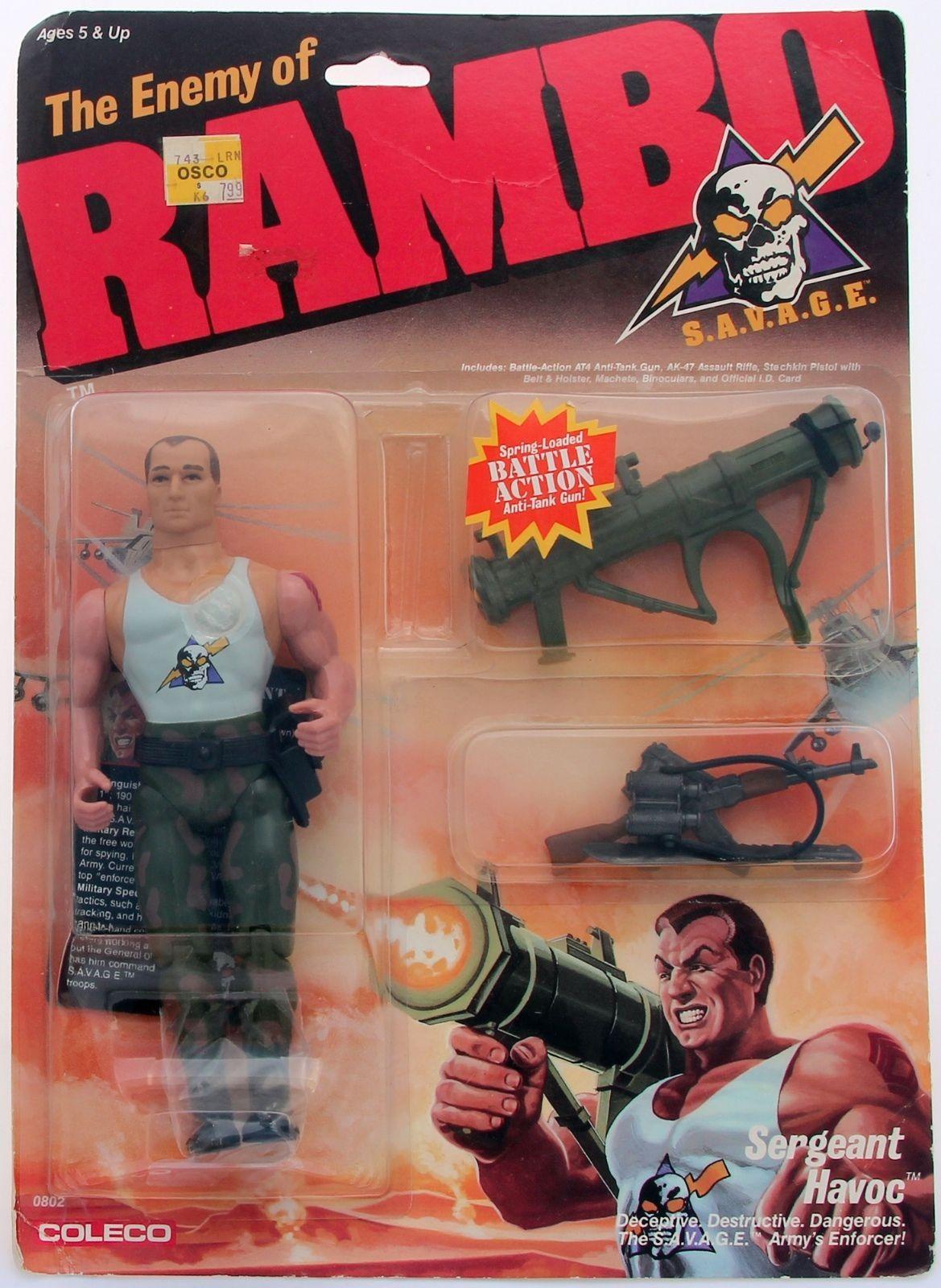 Coleco 1986 Sergeant Havoc Enemy of Rambo | eBay