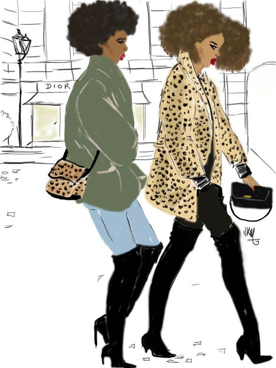 Afro Girl Walking In Paris Street Par Nikisgroove Sur Etsy -2764