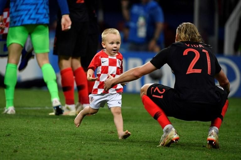 Croatia players with their kids | The Daily Star