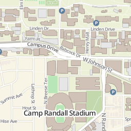 Campus Map University Of Wisconsin Madison Wisconsin Badgers