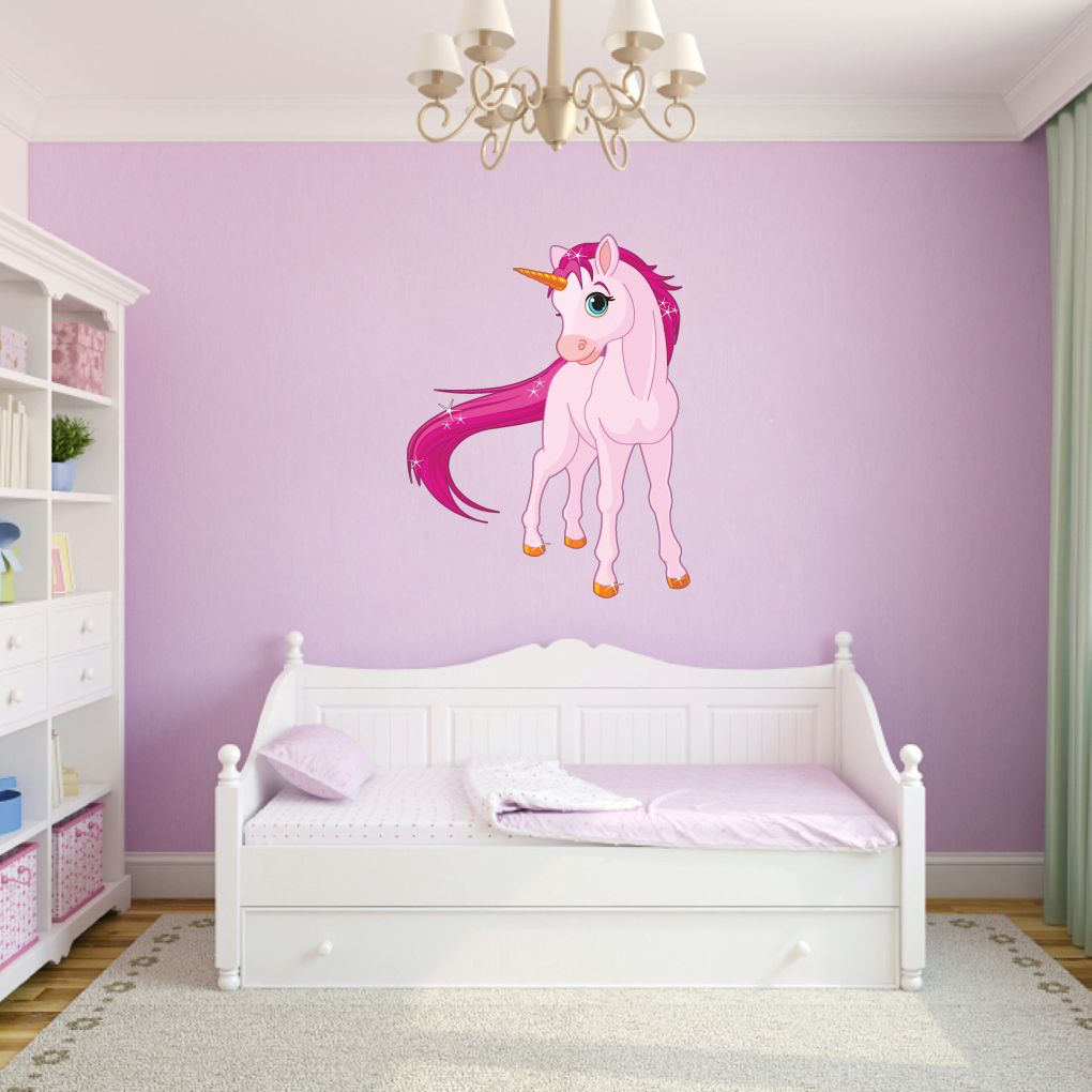 Customizable Wall Stickers Part - 16: Pink Unicorn - Printed Wall Decal - Sweetums Wall Decals