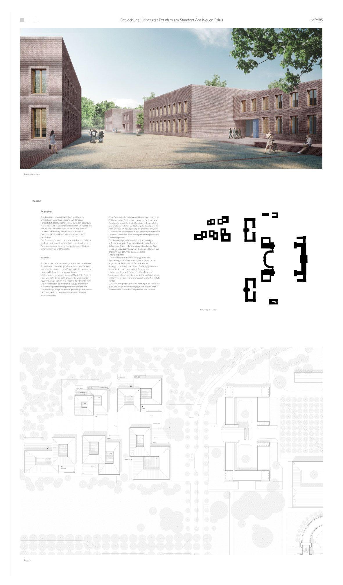 1. Preis: © Bruno Fioretti Marquez Architekten #architektonischepräsentation