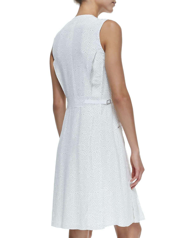 Nettie sleeveless zippocket dress w dots products pinterest