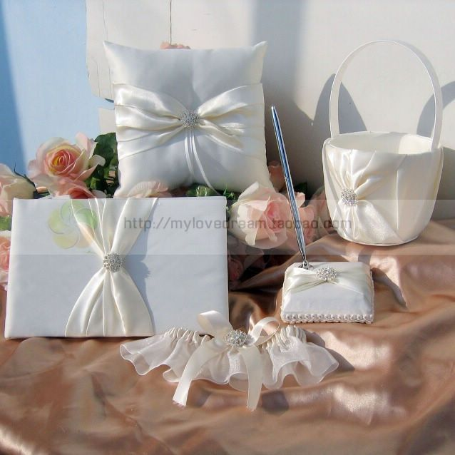 Lovedream attendance book pen holder flower girl flower basket ring pillow garter wedding supplies US $52.67