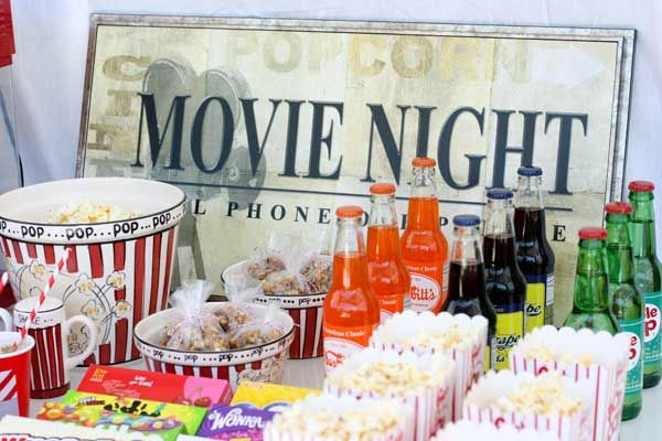 A Movie Room Like This Would Inspire Me To Have A Movie Theme Party At Home Sweepstakes Meritageroomlove Movie Themed Party Movie Night Party Movie Party