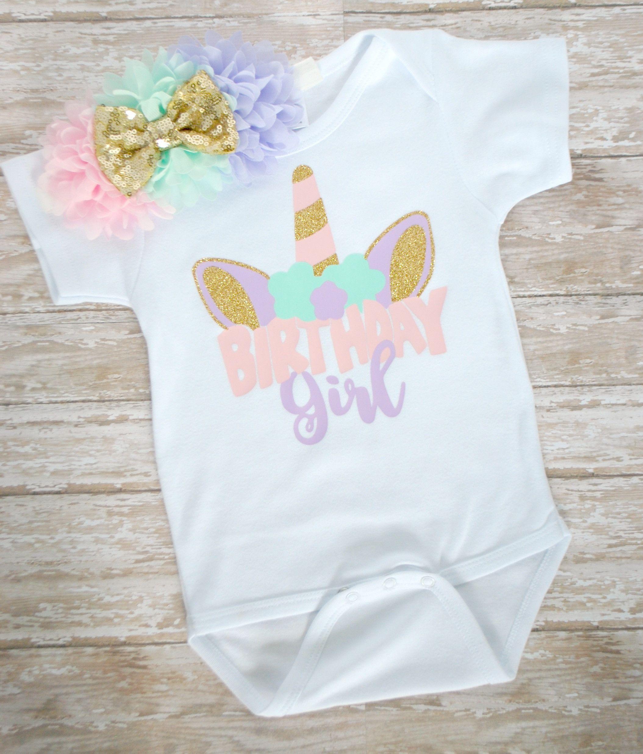85e8a2ad7 Unicorn Birthday Girl Shirt en 2019   girl   Camisa de unicornio ...
