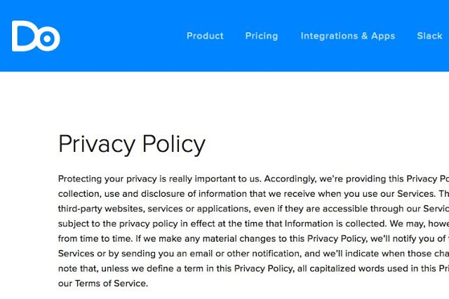 Free Privacy Policy Template E Commerce  Consignment Agreement