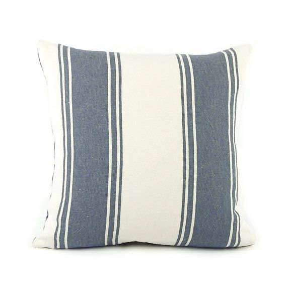 Terrific Ralph Lauren Striped Throw Pillow Cover 18X18 Blue Stripe Gmtry Best Dining Table And Chair Ideas Images Gmtryco