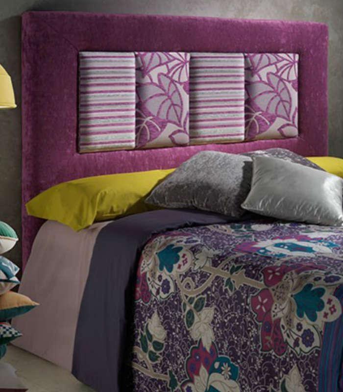El cabecero tapizado royal acabado en tela con su dise o - Cabeceros de cama de diseno ...