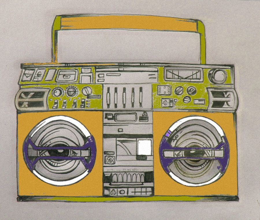 boombox tattoo designs | Boombox tattoo design in color by ...