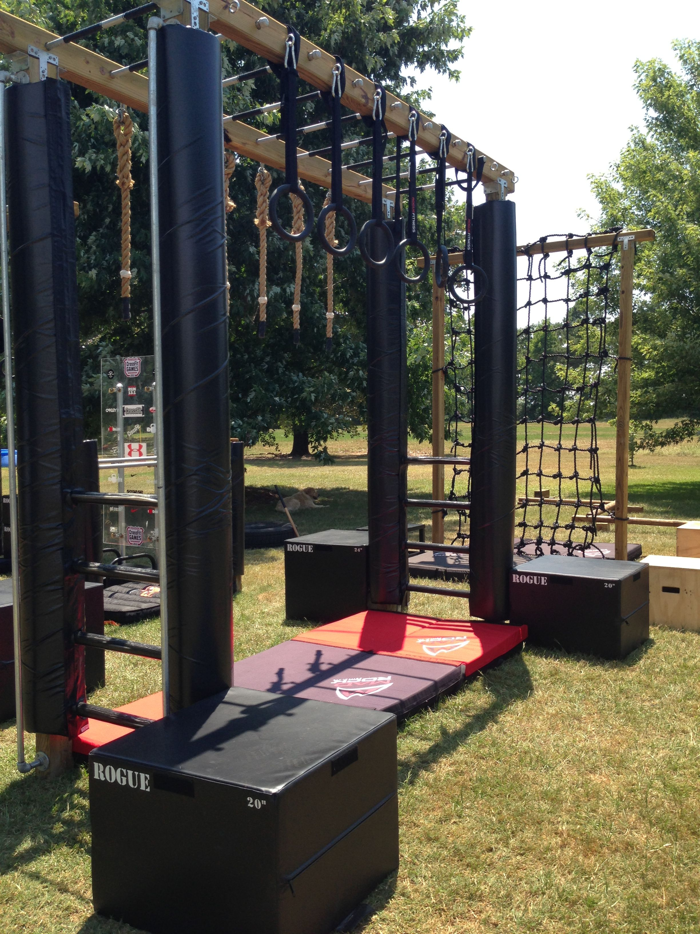 Monkey bars b fit at home gym backyard workout