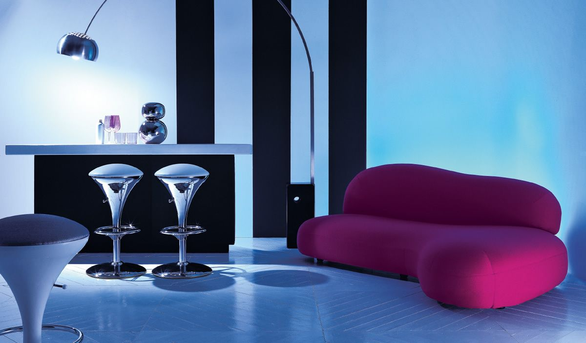 Esedra Design Scoop Divano Imbottito In Poliuretano E  # Meuble Tv Plasma Design Divano