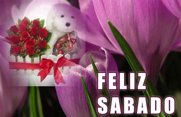 Peluche con flores deseándote un Feliz Sábado #dias_semana #xxxxxx