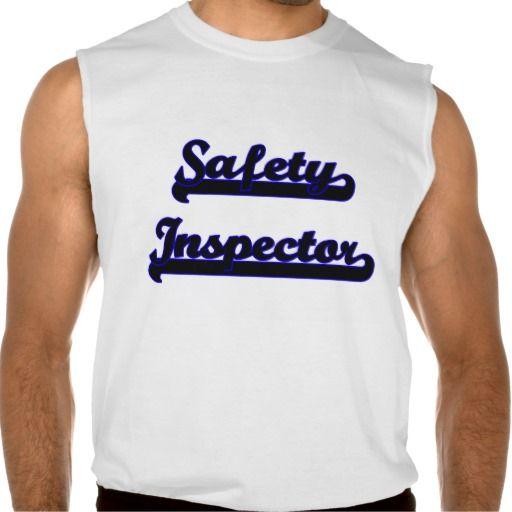 Safety Inspector Classic Job Design Sleeveless Tee Tank Tops