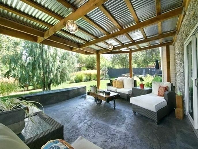 back porch ideas pictures closed in back porch ideas large ... on Large Back Porch Ideas id=99538