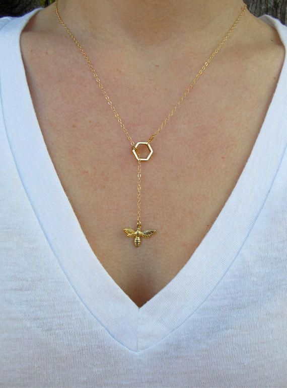 Simple Necklace Pendant Necklace Crystal Honeycomb Pendant Necklace Honey Bee Necklace Mom Gift Bee Necklace Silver Honeycomb Necklace