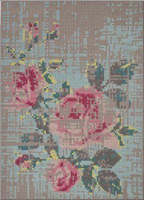 floral cross stitch - Google Search