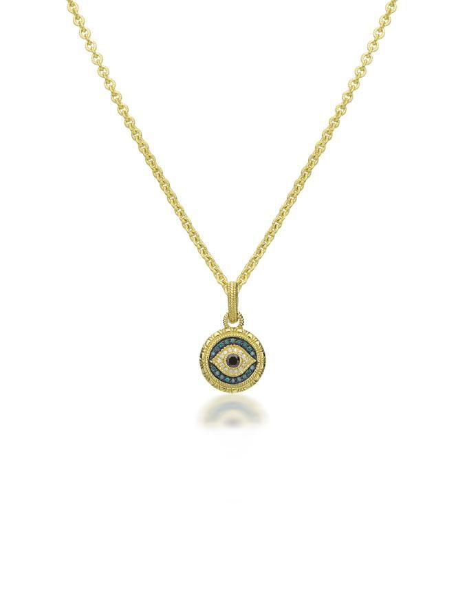 Judith Ripka 18k Diamond Evil Eye Pendant At London Jewelers Evil Eye Necklace Gold Evil Eye Necklace Evil Eye Pendant