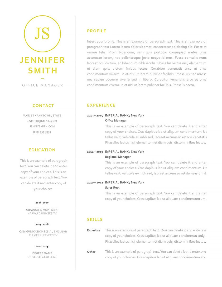 Resume Template 120050 Good resume examples
