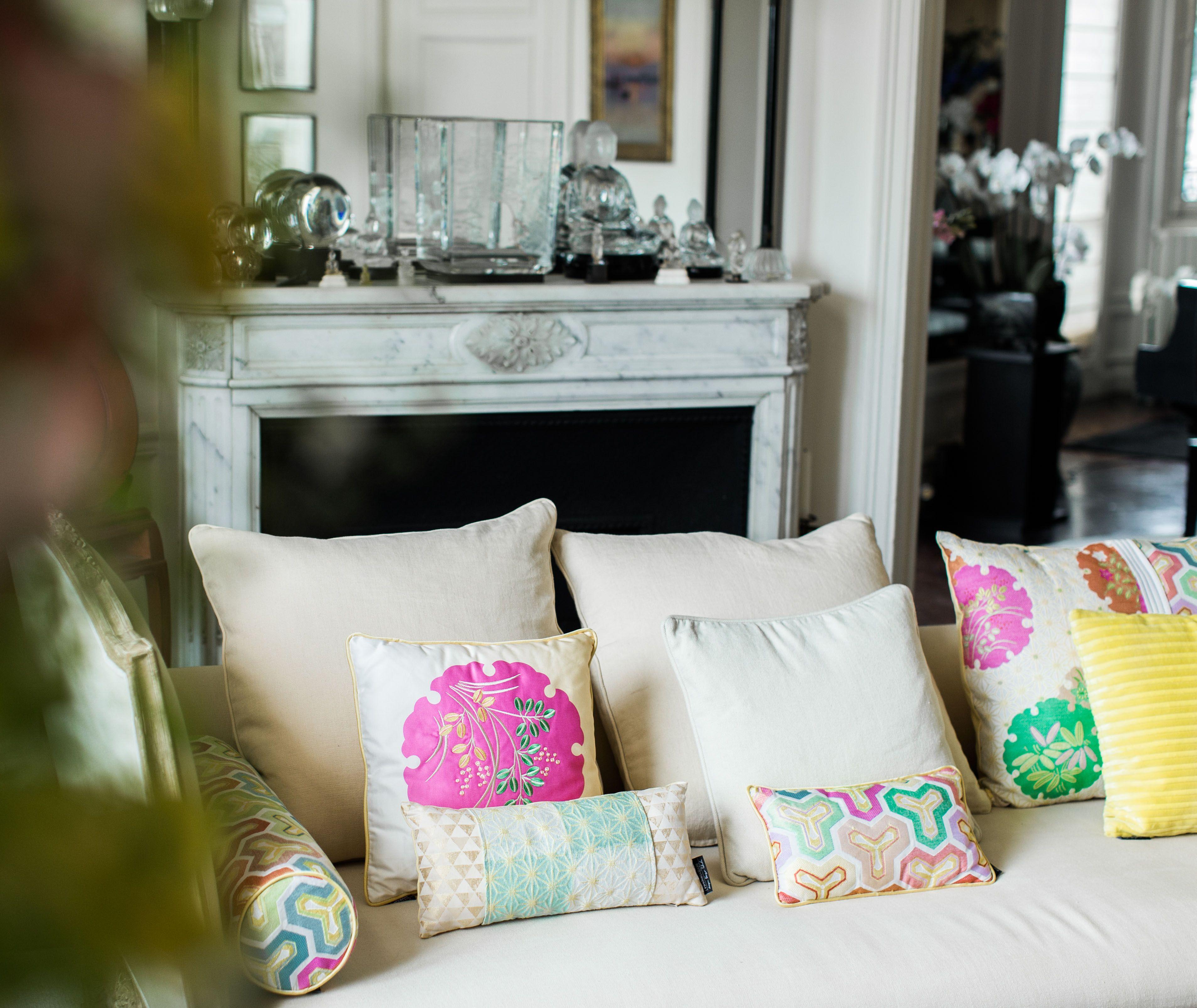 Roche Bobois Cushions Designed By Kenzo Takada Rochebobois Decoration