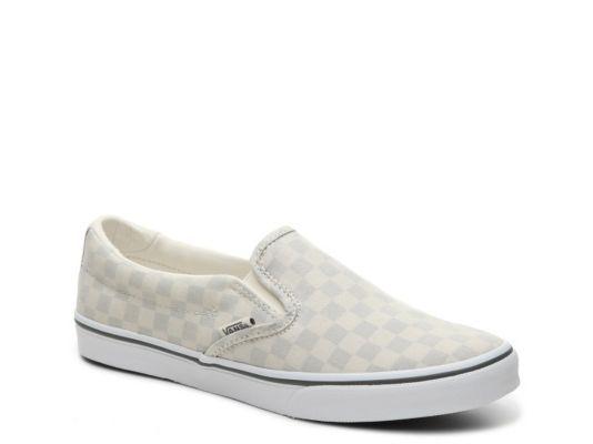 checkerboard vans true white