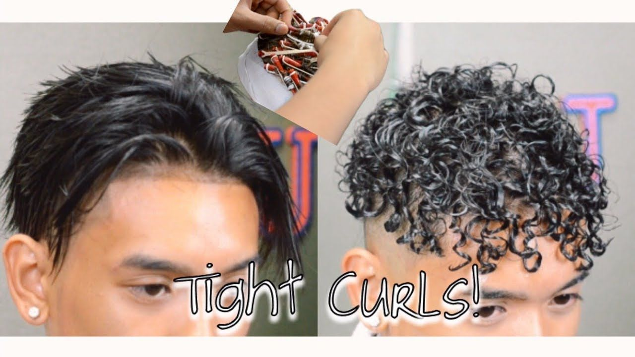 How To Get Curly Hair Tight Curls Perm Tight Curl Perm Diy Hair Perm Spiral Perm Short Hair