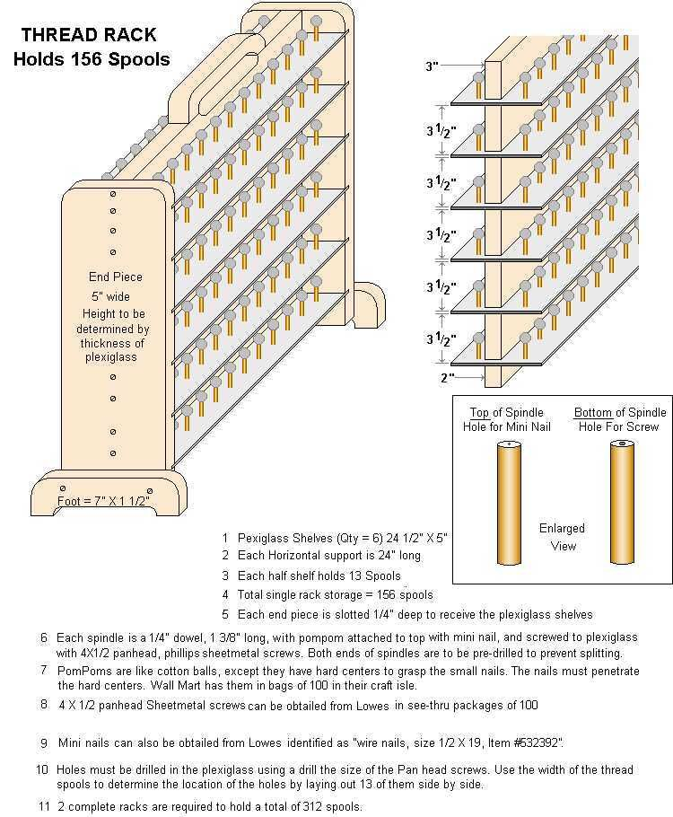 Thread stand plans | embroidery | Pinterest