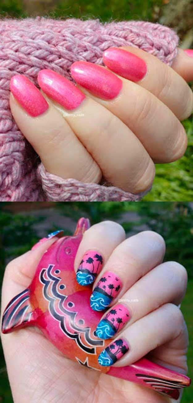 42 Cool Summer Nail Art Ideas   Pinterest   Summer nail art, Easy ...