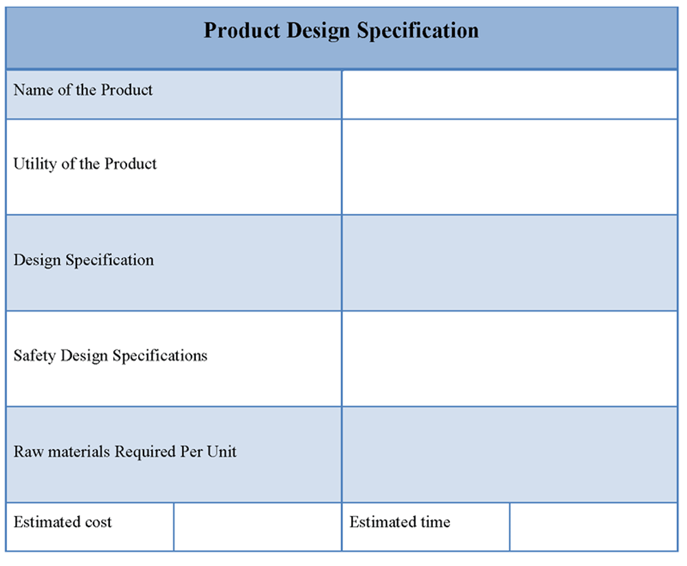 Sample Product Description Template  Product Management