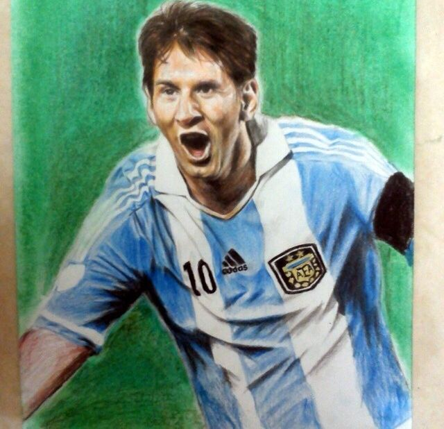 Lionel Messi Sketch Art
