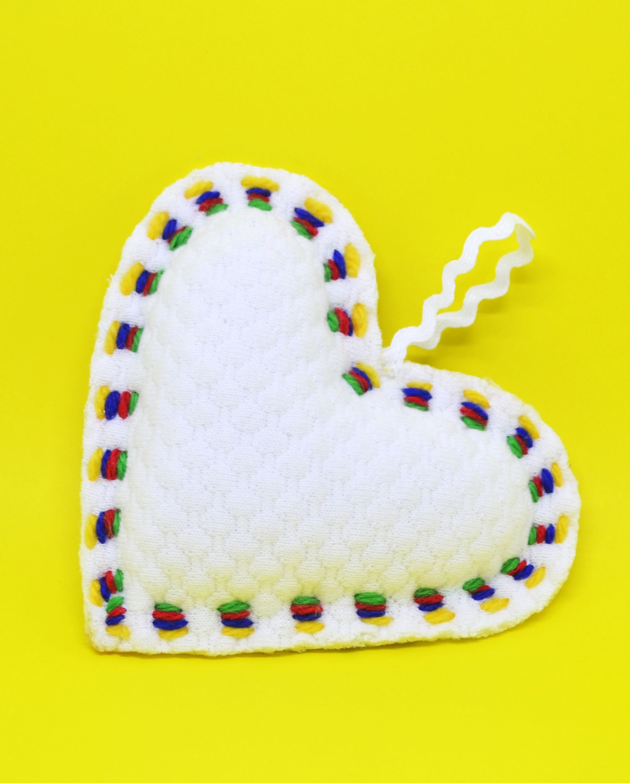 White heart - heart decoration - hanging heart decoration - wedding ...