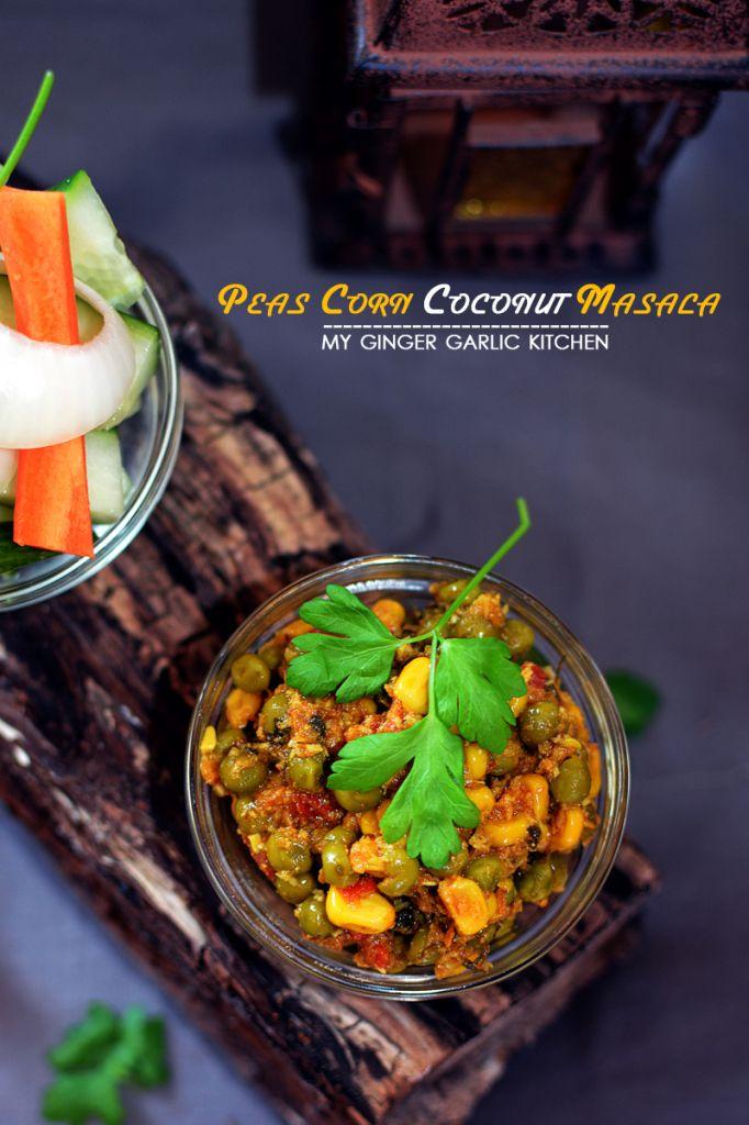 Peas corn coconut masala recipe peas corn coconut masala coconut recipes curries dinner greenpeas forumfinder Gallery