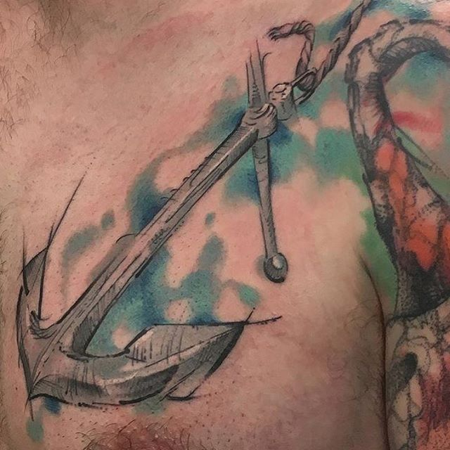 7b4c69c16901b Original #anchertattoo #customtattoo by @manny.tattoos • Contact  info@extremeneedle.