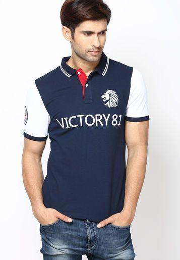93c011bcc Giordano Navy Blue Printed Slim Fit Polo T Shirt - Buy Men Polo T-Shirts  Online | GI530MA23XOIINDFAS