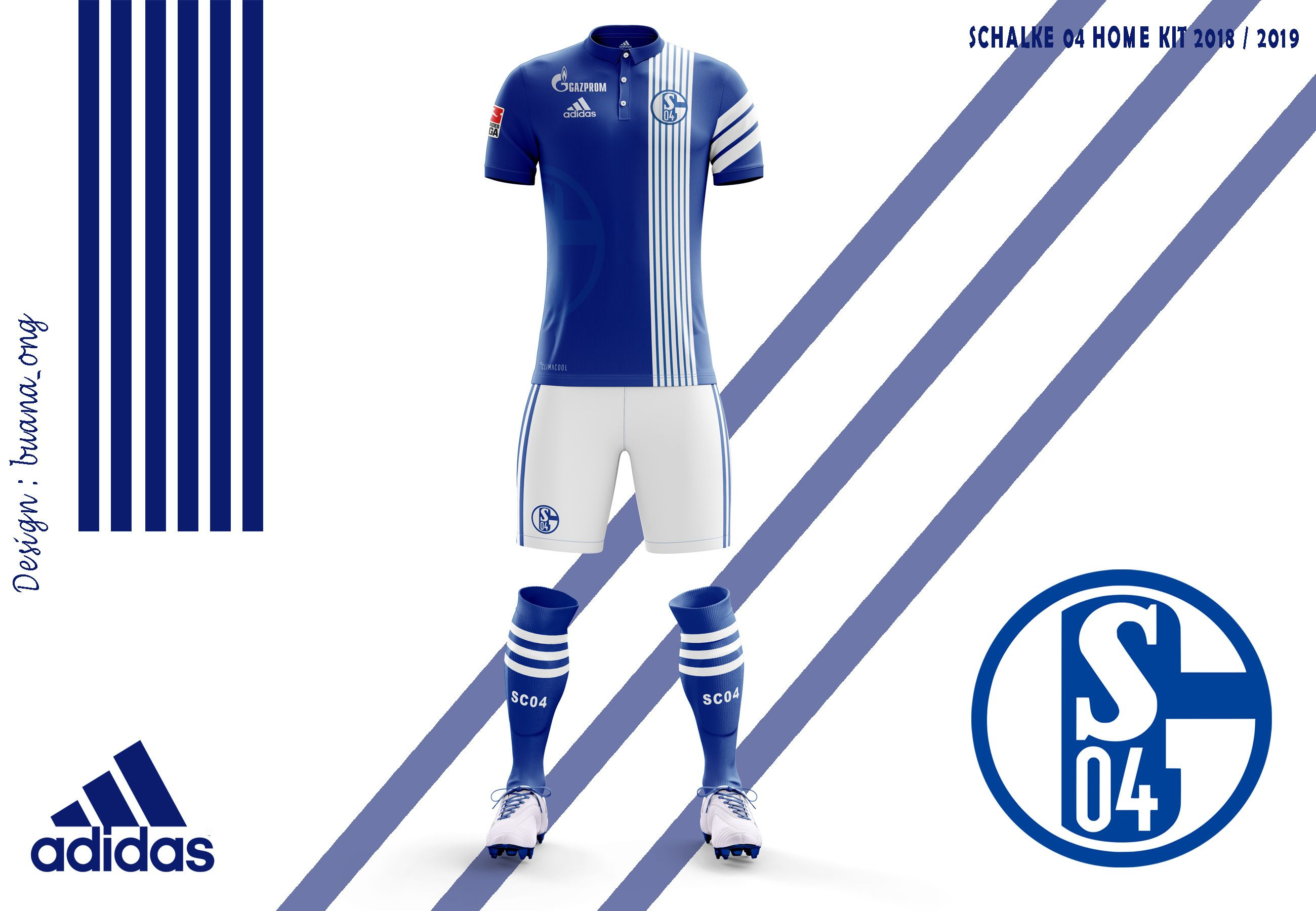 """Check out my @Behance project: """"Schalke 04 Concept Home Kit 2018-2019"""