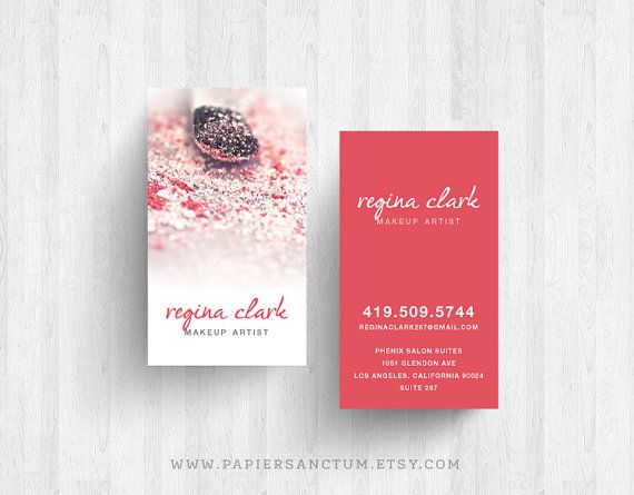 250 or 500 custom makeup powder brush business cards calling cards 250 or 500 custom makeup powder brush business cards calling cards reheart Choice Image