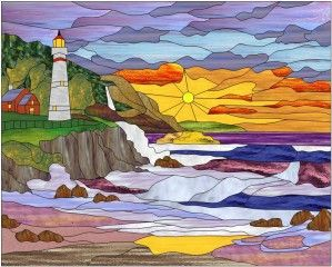 Dessin de bill blodgett stained glass paysages stained - Dessin de vitraux ...