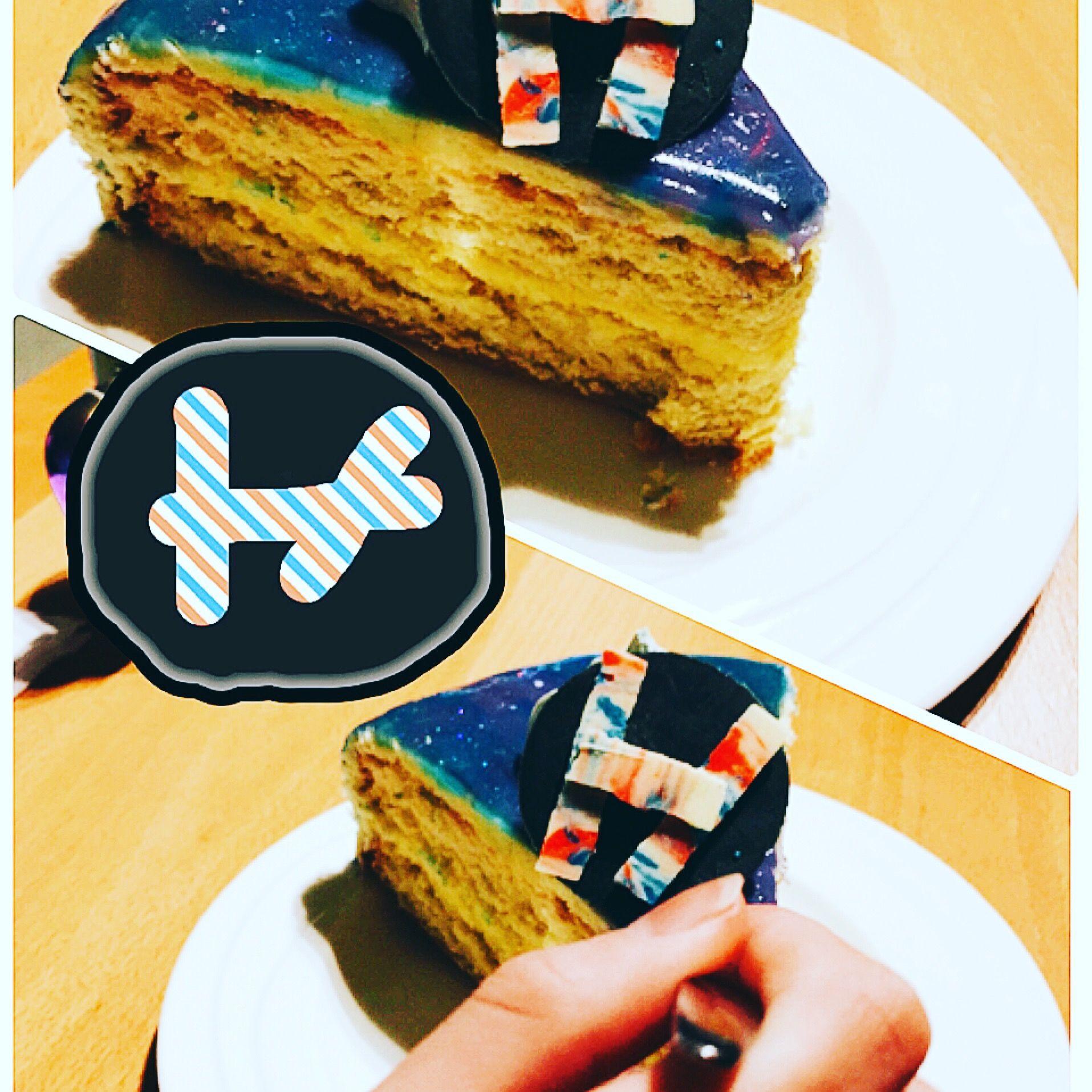 Birthday cake for my daughter . Twenty one pilots galaxy cake ...
