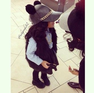 hat leather chain fur skirt leather skirt fall outfits timberlands  timberland kids fashion faux fur vest 76bdf6bc5df8